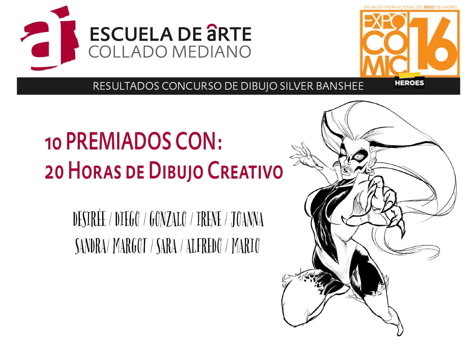 Resultados Concurso de Dibujo  Expocmic 2016  escuela de arte